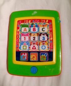 PLAY AND GROW TOUCH SCREEN TABLET STYLE MUSICAL LEARNING TOY. GOOD CONDITION