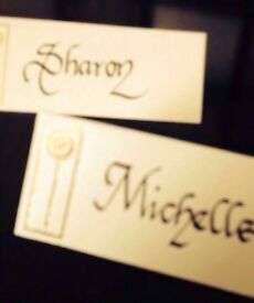 Wedding stationery calligraphy