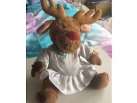 Reindeer Rudolph plush toy (with free outfit)