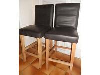 Pair of Bar Seats, Bar Chairs, Bar Stools - £20 the pair