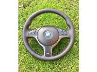BMW e46 Msport steering wheel refurbished