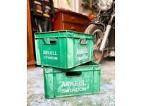 Arkell Brewery Beer Crates - pair