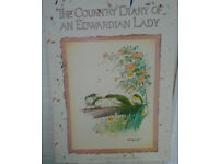 DISPLAY POSTER ON CARDBOARD OF COUNTRY DIARY OF AN EDWARDIAN LADY GOOD CONDITION