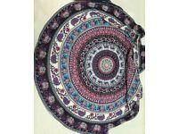 Round Wild Animal Bohamia Style Tapestry Beach Towel