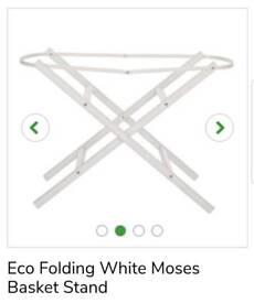 Kiddicare White Moses Basket Stand