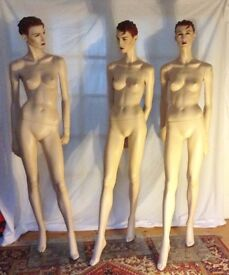 Five stunning 1990s display mannequins for sale