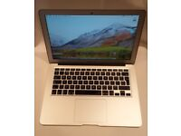 Apple MacBook Air 13 inch 1.3 GHz inter core i5, 128GB SSD, 4GB ram with latest OSX High Sierra