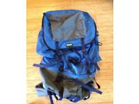 LARGE 'BLACKS' RUCKSACK WITH EXTRA POCKETS & 2 ZIP SECTIONS & METAL FRAME - USED - GOOD CONDITION