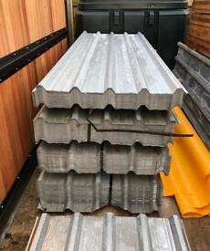 🛠 50 X 2.4M Galvanised Box Profile Roof Sheets ~ New