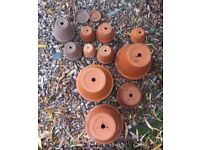 Assorted set of Terracotta Garden Pots