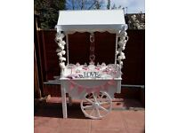Gorgeous wedding / birthday sweet cart, candy cart for HIRE Worcestershire