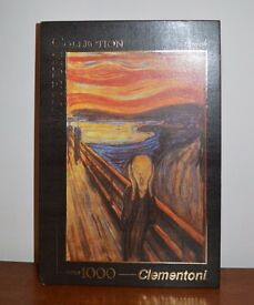 Munch: The Cry (The Scream) art Jigsaw Puzzle by Clementoni (1000 pieces)