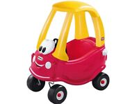 Brand new little tikes cozy coupe red and yellow car