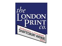 Graphic Designer wanted for busy West End Print Shop