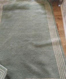 Lovely green John Lewis rug 180x120 RRP £295 100% wool