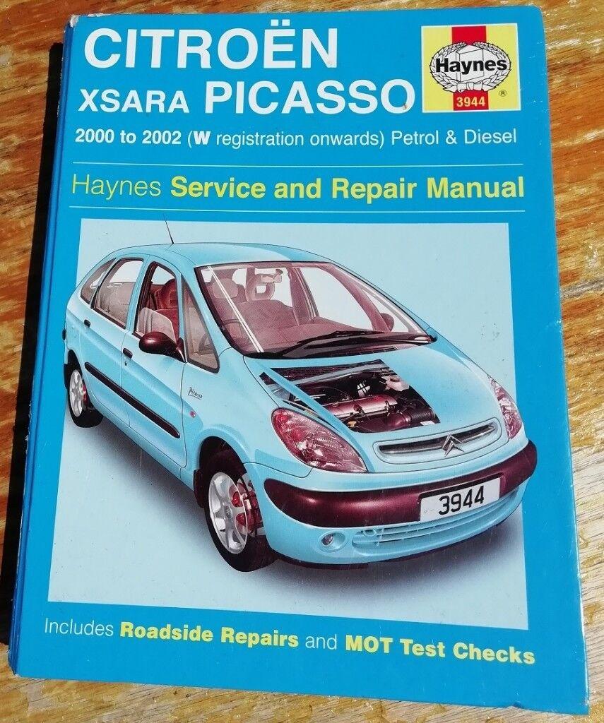Citroen Xsara Picasso Haynes Service and Repair Manual 2000 to 2002