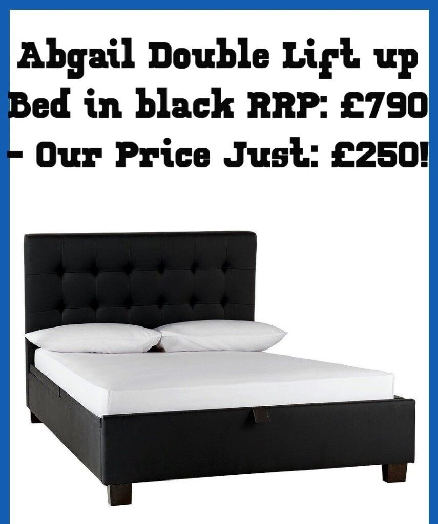 66f1682fc755 Brand New Boxed Abigail black lift up double bed - Delivery Available!