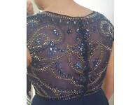 Gorgeous navy prom dress size 12 worn for 4 hours !