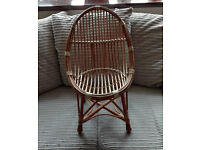 Wicker toddler chair
