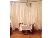 1930s handmade solid oak extending dining table and 4 chairs. House move necessitates sale