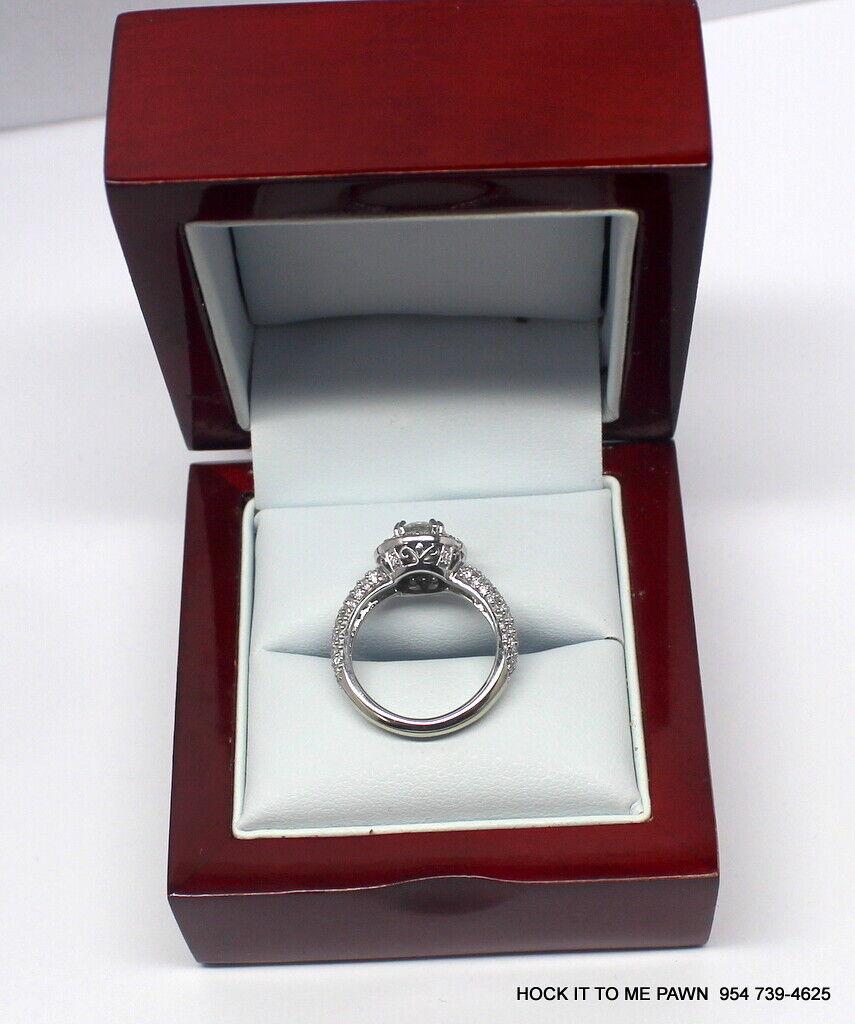Duet Halo Diamond Engagement Ring in 14k White Gold (1.75 ct. tw.) GIA 2