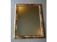"BEVELED EDGED FRAMED WALL MIRROR - 34"" X 25"""