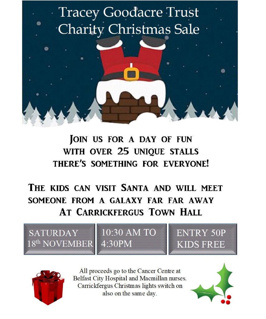 Cancer Charity Sale - Carrickfergus Town Hall. 18th November.