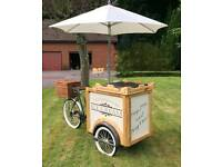 ICE CREAM MACHINE HIRE TRIKE TRICYCLE HIRE FLAKES SAUCES SPRINKLES