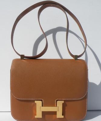 Hermes Bag Constance 24 Gold Epsom Gold Hardware 18yrs on eBay