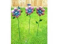 Garden decoration flower stakes