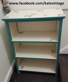 hand decorated decoupage bookcase