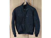 Barbour International Sprocket Waxed Bomber Jacket Small Black ex cond