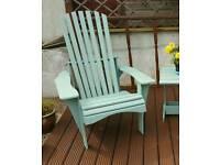 Adirondack style garden chair