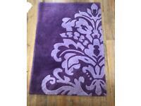 Purple decorative rug