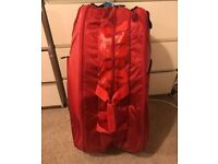 Limited Edition Wilson Red 15 racket tennis bag