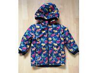 Jojo Maman Bebe fleece lined dino coat/ jacket age 5-6 years