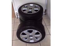 Genuine Audi S4 b5 17'' Alloy , Alloy wheels, with bridgestone tyres,