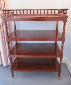 Large Antique Mahogany Etagere / Whatnot - 4 Tiers