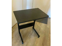 Compact Height Adjustable Mobile Table Workstation Metal Frame Plus Castor Wheels Delivery Possible