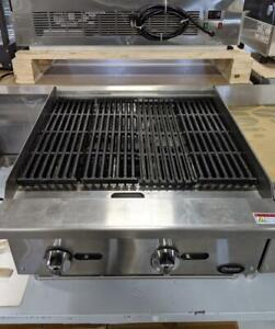 Charcoal Broiler/Charbroiler 24 and 36 Brand New Gas Char Broiler and Radiant Cooking Equipment