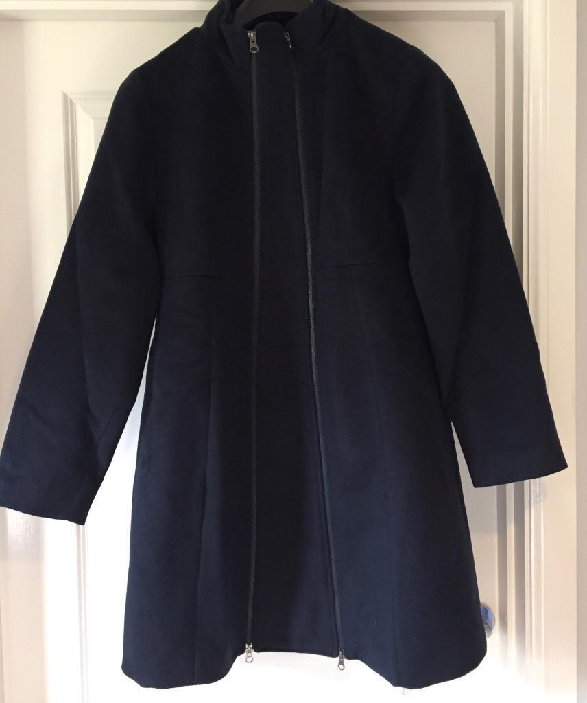 Jojo Maman Bebe Navy Tailored Maternity Coat Size 14 Women's Clothing