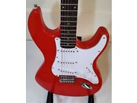 ELECTRIC GUITAR & PRACTICE AMP RED GEAR4MUSIC STRAT COPY + MATCHING AMP IN GREAT CONDITION