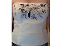 Pierce and Fionda size 16 bustier/corset top (unused) straps included Ideal fo Christmas Parties £10