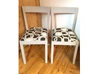 Pair of refurbished IKEA dining chairs