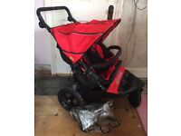 Out n About V4 Double Nipper 360 in Excellent Condition Double Buggy
