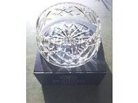 ** NEW ** vintage Bohemia Czechoslovakia hand cut lead crystal bowl/dish in original box. £18 ovno.