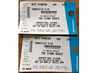 The Stone Roses x 2 standing tickets, Hampden park