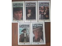 POLDARK : The first five paperback books from the original 1975 BBC drama series.