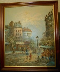 Burnett Oil Painting framed and signed