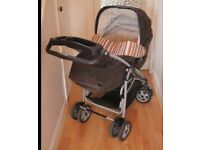 Mamad and Papas Ultima 9 in 1 Travel System (pushchair, car seat, cot) Limited Edition Paul Smith